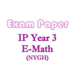 NYGH Sec 3 IP School E Math exam papers / Integrated Programme / Nanyang Girls High School