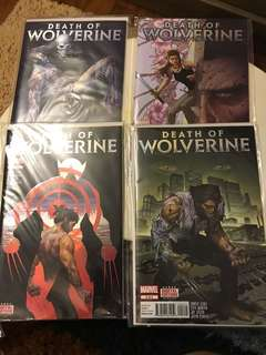 Marvel Death Of Wolverine #1-4 Foil Cover COMPLETE