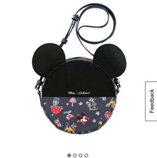 New Cath Kidston MICKEY AND MINNIE LITTLE PATCHES MICKEY ROUND BAG