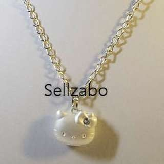 Hello Kitty Necklaces With Pendants Sellzabo Matte Silver Neck Chains Accessories Gift Presents Birthday