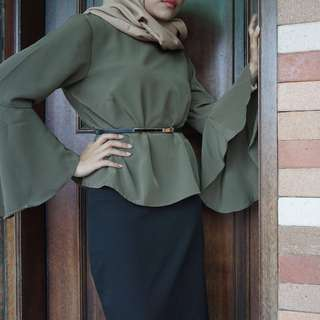 The Executive - Olive green blouse