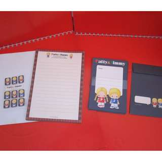 Sanrio Patty&Jimmy 信紙套裝