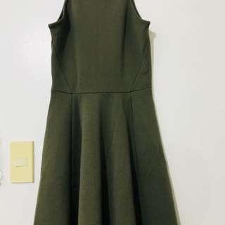 Skater Dress in Military Green
