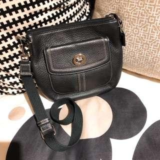 Authentic Coach leather black cross body satchel