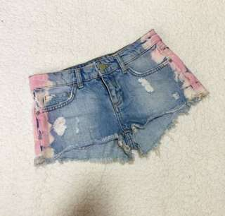 🆕 Topshop Denim Tiedye Shorts