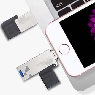 3 in 1 iPhone/ Type C micro SD card reader + 3.0 USB