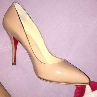 Christian louboutin nude pigalle shoes