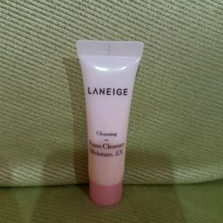 Laneige foam cleanser share in jar
