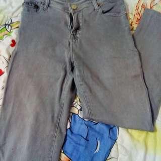 Soft jeans panjang warna abu