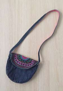 Girl Mini Denim Sling Bag