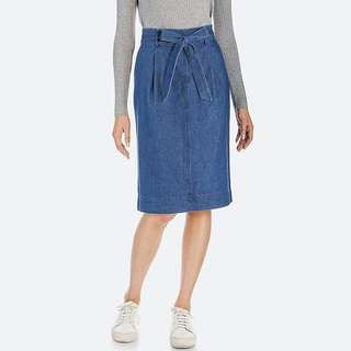Looking for Denim belted skirt