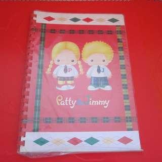 Sanrio Patty&Jimmy 筆記簿 1998年 (未拆包裝)