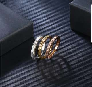 Gold Plated Triple Rings Set