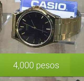 Casio gold watch from italy