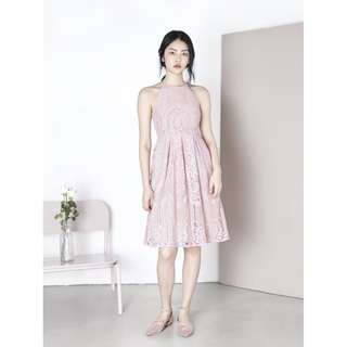 AWD EPIPHANY Lace Midi Dress (Mauve) - Size S