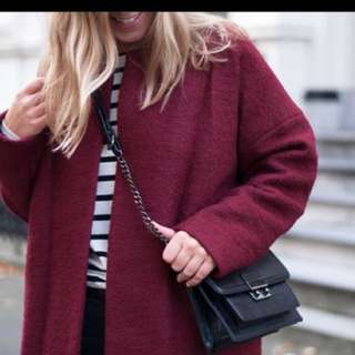 Wine Red Thick Winters Coat
