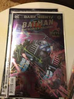 DC Dark Nights Metal Batman The Murder Machine #1 Foil Stamp Cover