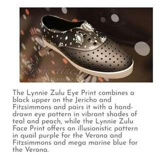 Lynnie Zulu Eye Print Native Shoes
