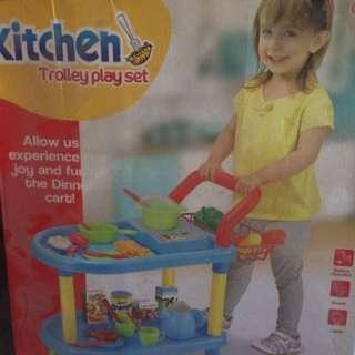 Preloved kitchen trolly set