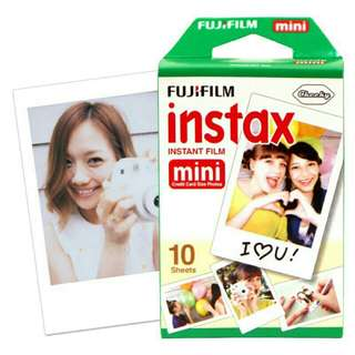 Fuji film instax plain 10 sheets