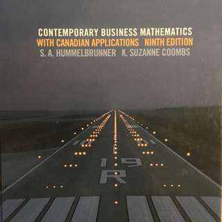 contemporary business mathematics with canadian applications textbook