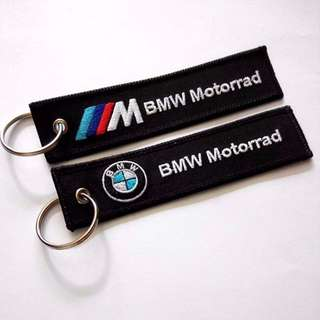 BMW Double Side Motorcycle Motorrad Embroidered Keychain