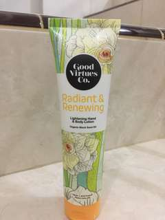 hand & body lotion good virtues Co.