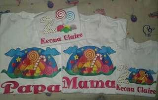 Candyland Theme Family Shirt