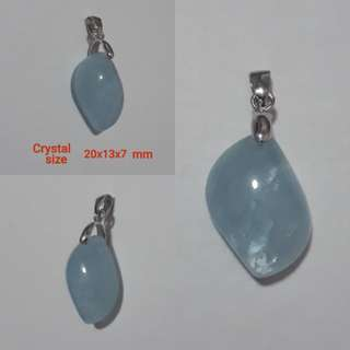 Very Nice Aquamarine pendant, new shape and good clear blue.