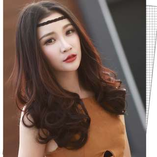 U shape Hair Extensions Wavy Natural Clip on Light Brown