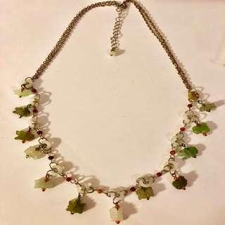 Jade horoscope necklace