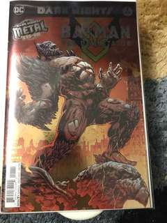 DC Dark Nights Metal Batman The Devastator #1 Foil Stamp Cover