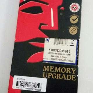 Ram 2 GB DDR 3 Kingston