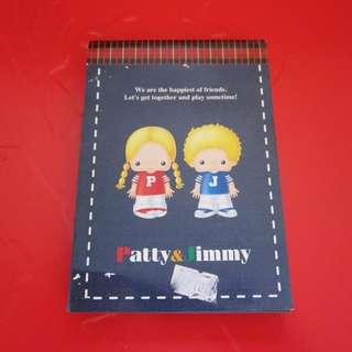 Sanrio Patty&Jimmy MEMO紙 1998年