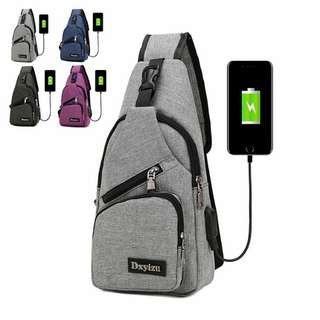 Sling bag Dxyizu USB sport.  import HK BEST QUALITY