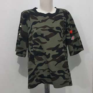 Army with patch top