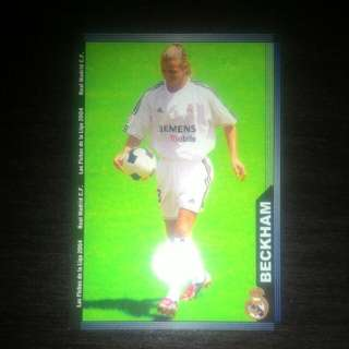 FOOTBALL CARD DAVID BECKHAM 2004