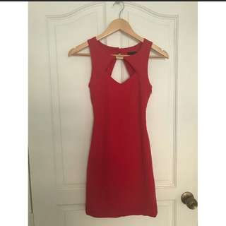 Asos Petite red dress.  For casual / formal