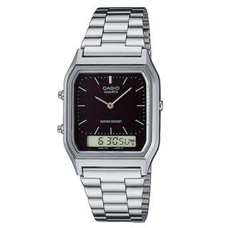 Casio Vintage AQ-230A-1D Silver Stainless Watch For MenWomen - COD FREE SHIPPING
