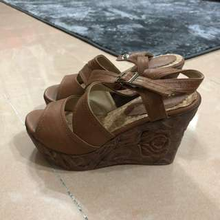 日本 壓花暗花 高跟涼鞋 platform 鞋 Liz Lisa secret honey and rouge