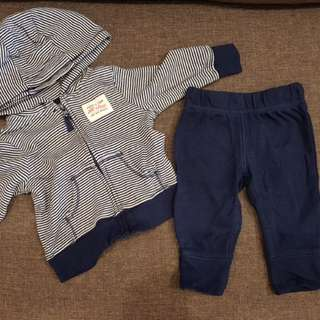 Authentic Carter's 2pc jacket and pants set
