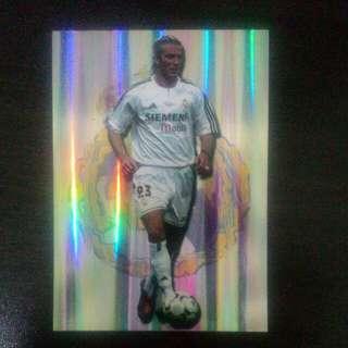 FOOTBALL CARD DAVID BECKHAM 2004