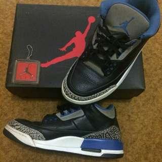 """Jual Murah Air Jordan 3 """"Blue Sport"""" size 10 / 44"""
