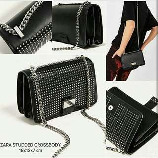 ZARA STUDDED CROSSBODY
