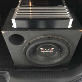 Subwoofer and 4 chanel amplifier