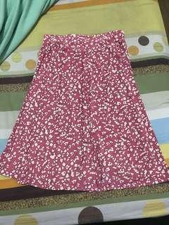 Old Rose Floral Skirt