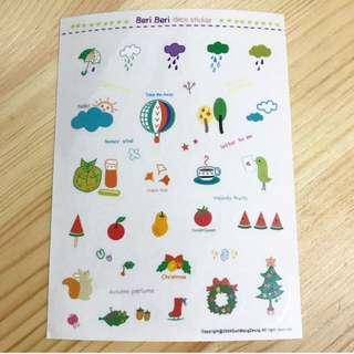 韓國可愛手繪風貼紙 Korea deco stickers