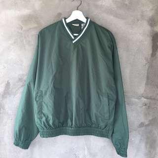 綠色風衣罩衫