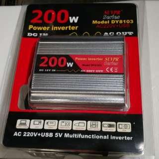 車用變壓器 DC 12V to AC 220V 200W USB 5V