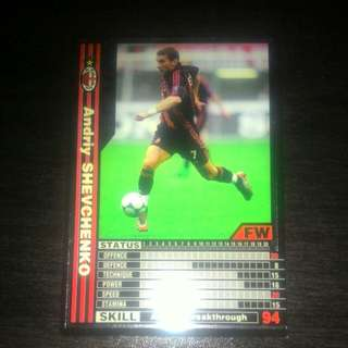 FOOTBALL CARD SHEVCHENKO 2001